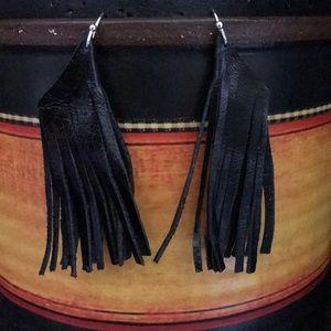 Fringed leather